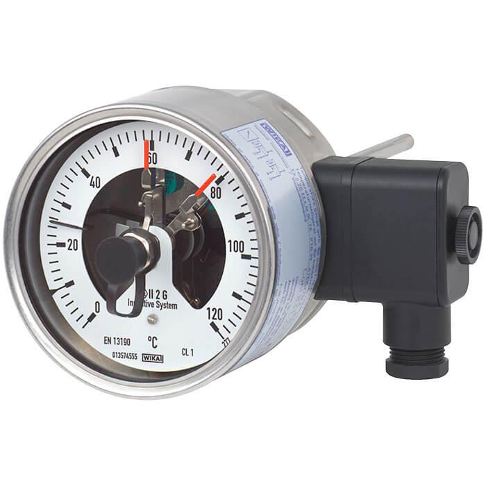 TGS55带电接点的双金属温度计