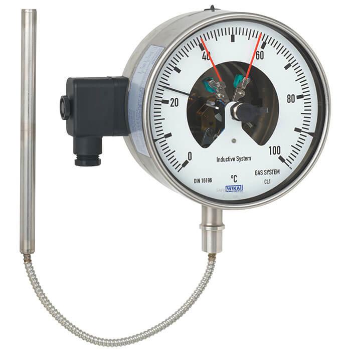 带电接点的气包式温度计